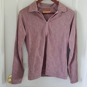Lucy half zip floral activewear long sleeve top